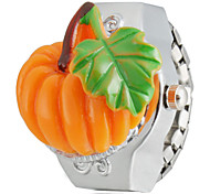 Girl's Pumpkin Design Silver Alloy Quartz Ring Watch Cool Watches Unique Watches