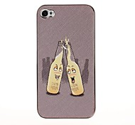 Beer Bottle Pattern Pasting Skin Case for iPhone 4/4S