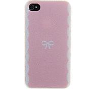 Rosa Hintergrund Bowknot Muster zurück Fall für das iPhone 4/4S