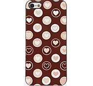 Corações românticos em Bubbles Padrão Hard Case PC com 3 Pacotes de protetores de tela para iPhone HD 5/5S