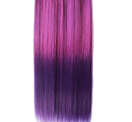 25 Inch Clip in Synthetic Purple Gradient Straight Hair Extensions with 5 Clips