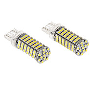 T20 7443 7W 102x3020SMD 620LM 5500-6500K refrescan la lámpara LED de luz blanca para coche (12V)