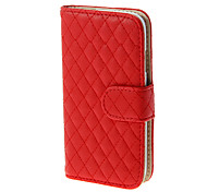 Grids Pattern PU Leather Foldable Pouches with Card Slots for Samsung Galaxy Note3 N9000