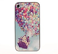 Color Balloon Pattern Pasting Skin Case for iPhone 4/4S