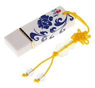 16G Blue and White Porcelain USB Flash Drive