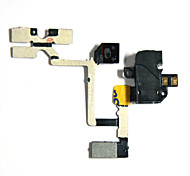 Interruptor de volumen de auriculares Audio Jack Power Flex cable para el iPhone 4