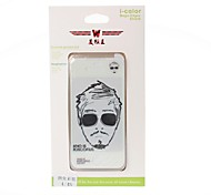 Fashion Gentleman Pattern Color Shining Screen Protective Film Stick By Yourself Case Back Cover for iPhone4/4S