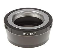 M42-M4/3 Camera Lens Adapter Ring (Black)