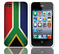 Vintage The Flag of South Africa Pattern Hard Case with 3-Pack Screen Protectors for iPhone 4/4S