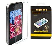 Angibabe 0.21mm Super Slim Russian Spanish Engish Version Premium Tempered Glass for iPhone 5 / 5S