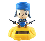 Solar Powered Cute Blue Sand Monk of Journey to the West Shaking Head Toy