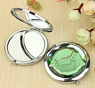 Personalized Gift Vine Pattern Chrome Compact Mirror