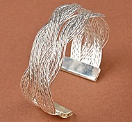 Moda feminina toque elegante Weaving Bangle Bracelet