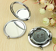 Personalized Gift Kiss Pattern Chrome Compact Mirror