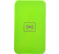 Qi Wireless Charger verde Pad ricarica con ricevitore blu per Samsung Galaxy Nota 2 N7100