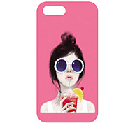 Girl&Ice Cream Pattern Back Case for iPhone 5
