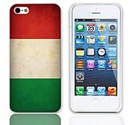 Vintage Bandiera del modello ungherese Hard Case con 3 Paia protezioni per iPhone 5/5S