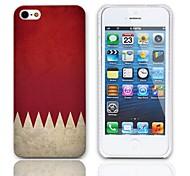 Weinlese-Flagge Muster Hülle mit 3-Pack-Display-Schutzfolien für das iPhone 5/5S
