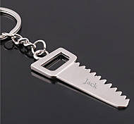 Personalized Engraved Gift Creative Saw Shaped Keychain
