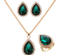 Gold Plate Lady Jewelry et(Earring&Necklace&Ring)