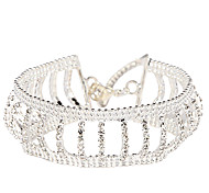Victoria Czech Crystal Silver Plated Chain Bracelet