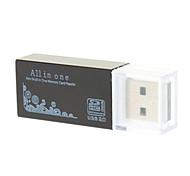 Lector de tarjetas USB2.0 T-flash 4-en-1 de alta velocidad (varios colores)