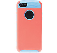 2-in-1 Design Solid Color Hard Case with Blue TPU Inside for iPhone 5C (Assorted Colors)