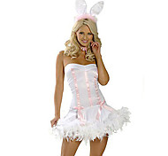 Pure Bunny Girl White Polyester Women's Carnival Party Costume