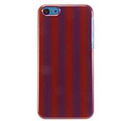 Lila und Rot-vertikale Streifen-Muster Hülle für iPhone 5C