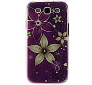 Purple Ground Flowers Pattern Plastic Protective Hard Back Case Cover for Samsung Galaxy S3 I9300