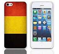 Weinlese die Flagge von Belgien Entwurfs-harter Fall mit 3-Pack-Display-Schutzfolien für das iPhone 5/5S