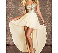 Princess Style Golden Sequin Women's Sexy Party Costume