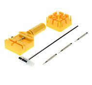 6 Piezas de metal del reloj Band Enlace Remover Ajustador Pin Ponche Set Herramienta práctica