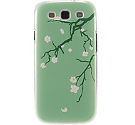 Peach Blossom Pattern Plastic Protective Hard Back Case Cover for Samsung Galaxy S3 I9300