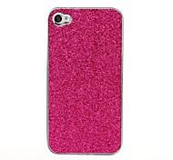 Bling Glitter Pattern Luminoso estuche rígido de Plata para el iPhone 4/4S
