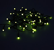 5M 3W 50-LED Yellow Light LED Strip Light (220V)