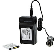 ismartdigi 680mAh Camera Battery(2pcs)+Car Charger for Canon IXUS125 240 245HS A2300 A2400 A340