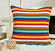 Stylish Colorful Stripe Pillow With Insert
