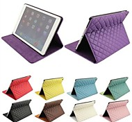 Diamond Grid Style Full Body Stand  Leather Case  for iPad Air (Assorted Colors)