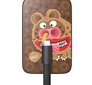 OUNUO 3200mah arte exquisito osos lindos de la batería externa espesor 7mm patrón con una función de cable de 8 pines