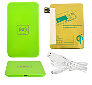 Verde Wireless Power Charger Pad + Cavo USB + ricevitore Paster (Gold) per Samsung Galaxy Nota 2 N7100