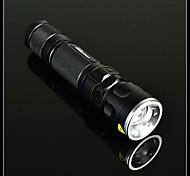 BORUIT E1 5-Mode del Cree XM-L T6 del zumbido LED Flashlight (1200LM, 1x18650/3xAAA, Negro)