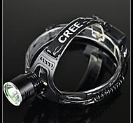 BORUIT A2 3-Mode Cree XM-L T6 Rechargeable LED Headlamp(1200LM,2*18650,Black)
