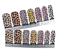 28PCS Full-tip Leopard Print Nail Art Stickers Decals