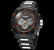 Men's Multi-Functional Military Round Dial ABS Plastic Band Analog-Digital Wrist Watch (Assorted Colors)