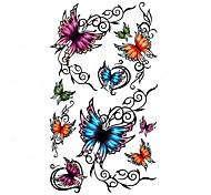5 Stück Schmetterling wasserdicht Temporary Tattoo (10,5 cm * 20,5 cm) HM308