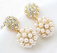 Fashion Imitation Pearl Ball Earrings For Women