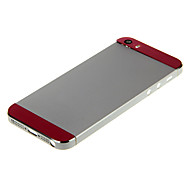 Silver Hard Metal Alloy Back Battery Housing with Pink Glass For iPhone 5s
