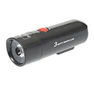WildWolf YT-M18 2-el modo de luz de seguridad LED luz de la bicicleta / de luz (4xAAA, Negro)