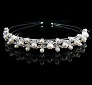 Women's Flower Girl's Rhinestone Imitation Pearl Headpiece-Wedding Headbands